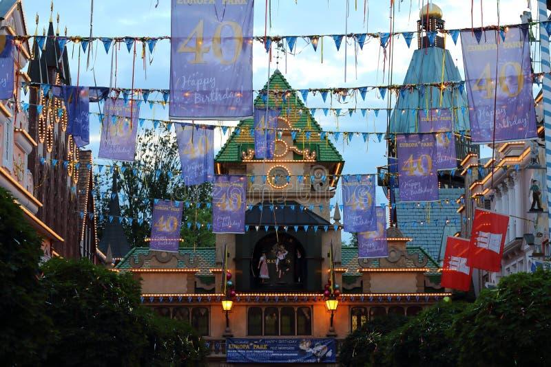 Het decor van de de wegverjaardag van het themapark royalty-vrije stock fotografie