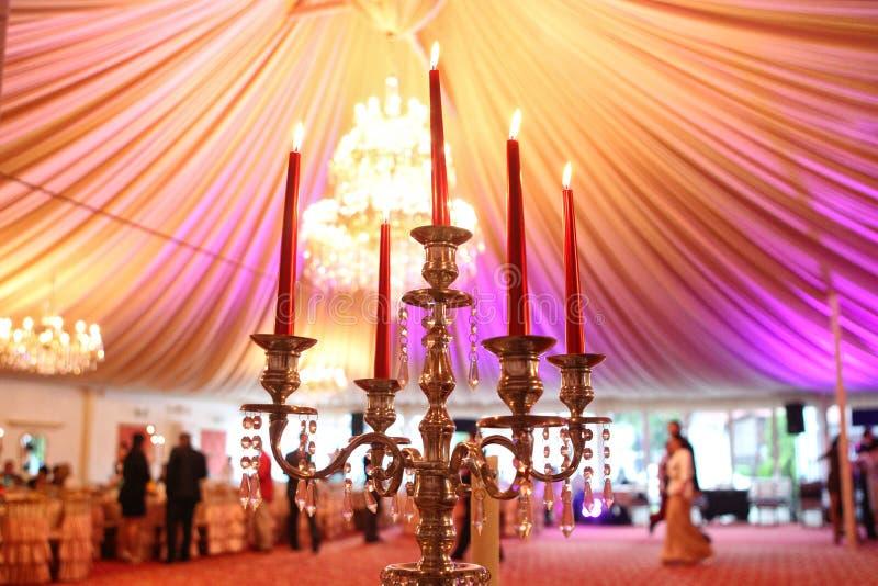 Het decor van het huwelijk stock fotografie