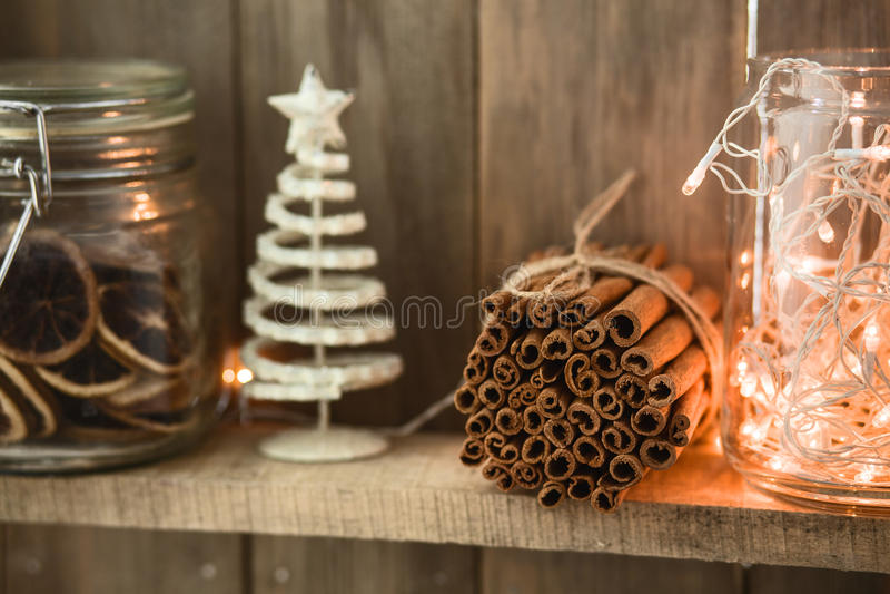 Het decor van het Kerstmishuis stock foto