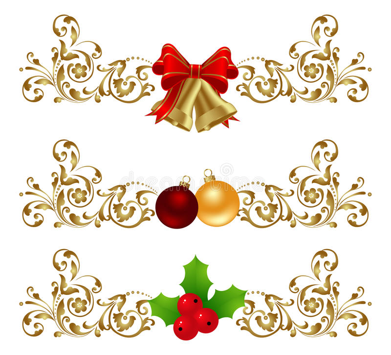 Het decor van Kerstmis vector illustratie
