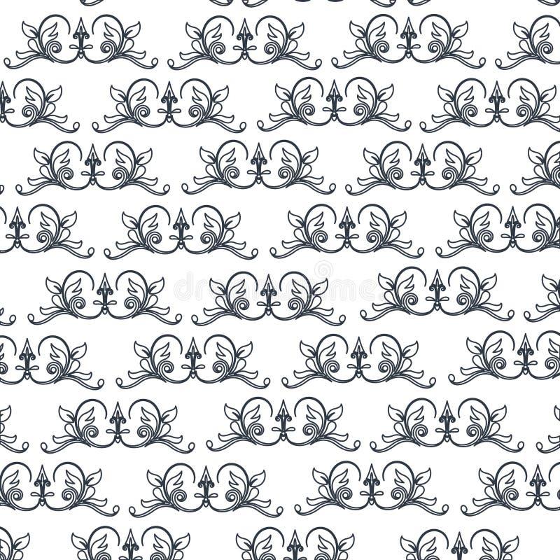 Het decoratieve elegante klassieke ontwerp van het wapenkunde naadloze patroon stock illustratie