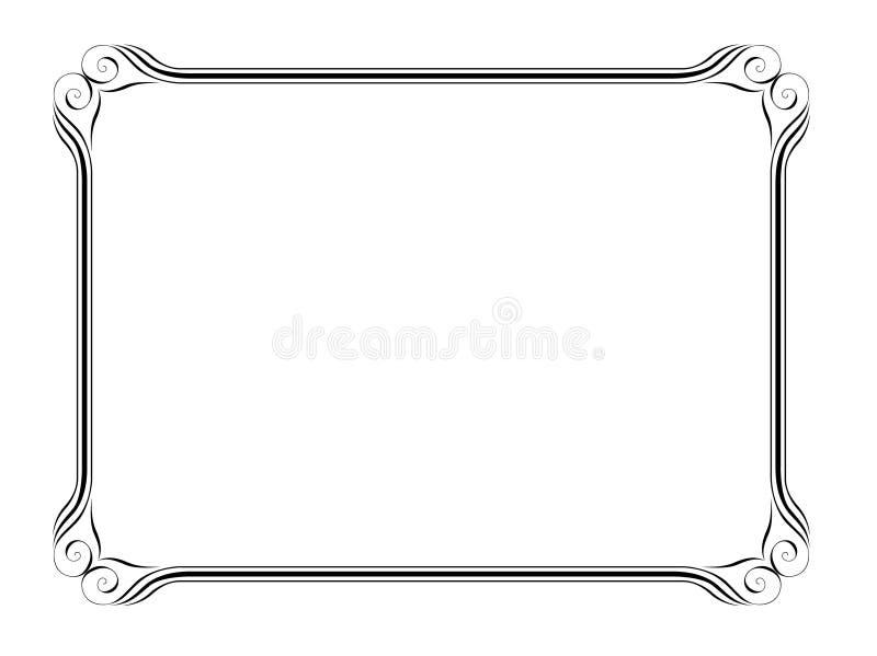 Het decoratieve frame van de kalligrafie stock illustratie