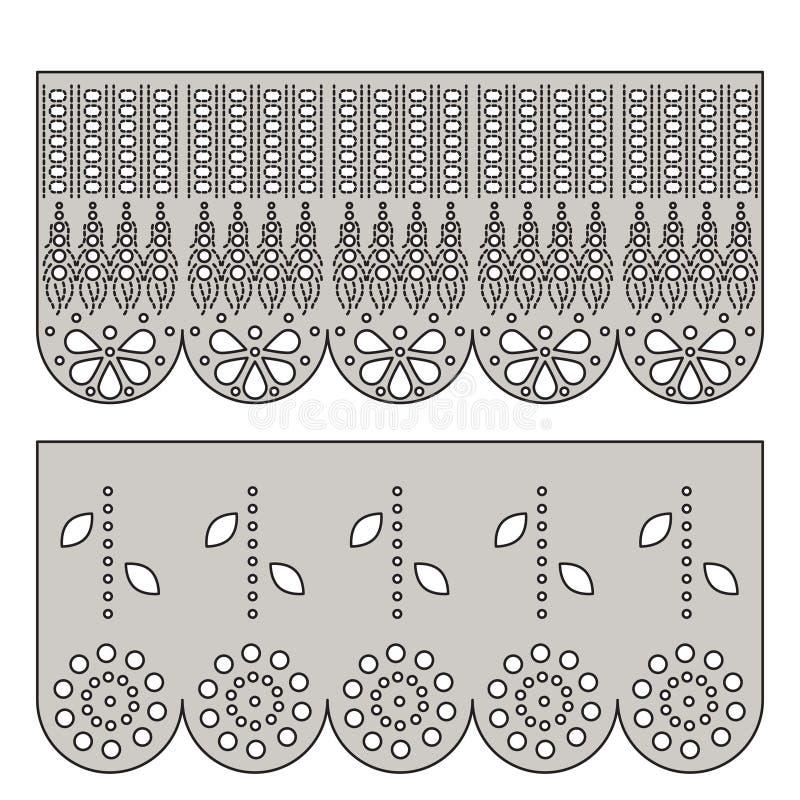 Het decoratieve ornament van het oogjekant voor grens van stof royalty-vrije illustratie