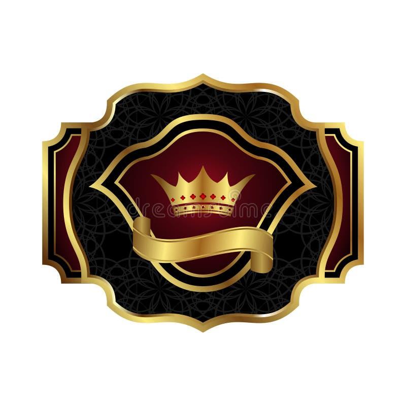 Het decoratieve overladen gouden frame van de kleur stock illustratie