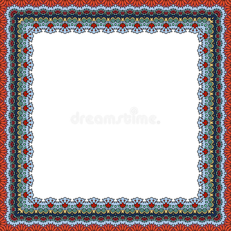 Het decoratieve patroon van de kadergrens stock illustratie