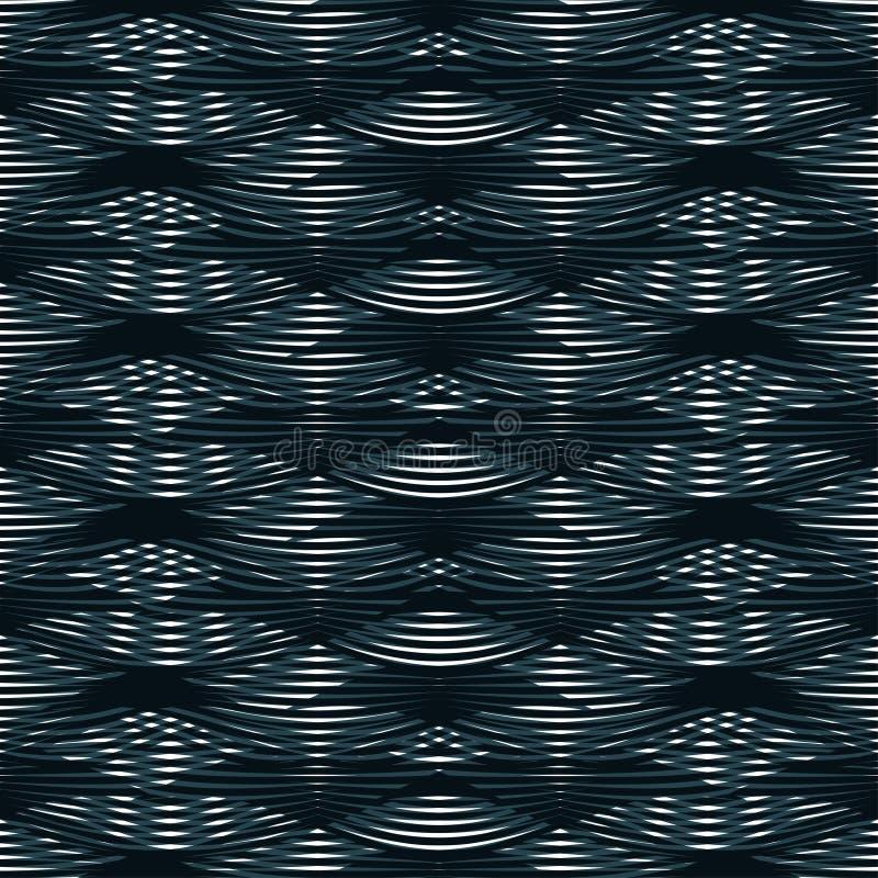 Het decoratieve sier naadloze bloemblaadje van patroongolven Vector stock illustratie