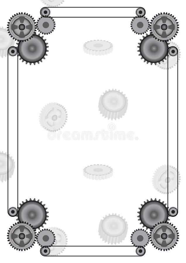 Het decoratieve toestel van het ontwerp Vectorkader stock foto's
