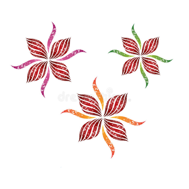Het decoratieve vectorontwerp van de bloem royalty-vrije illustratie
