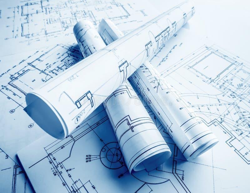 Een deel van architecturaal project stock afbeelding