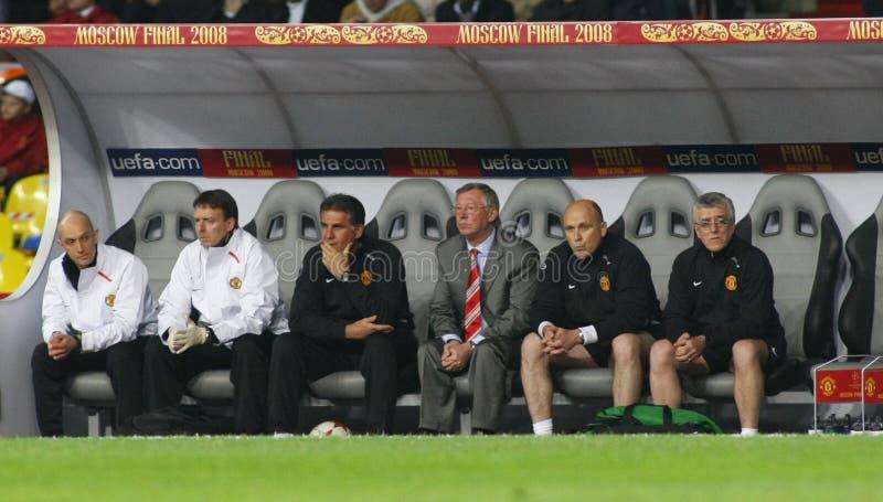 Het Definitieve Luzhniki Stadion van Champions League Moskou stock afbeeldingen