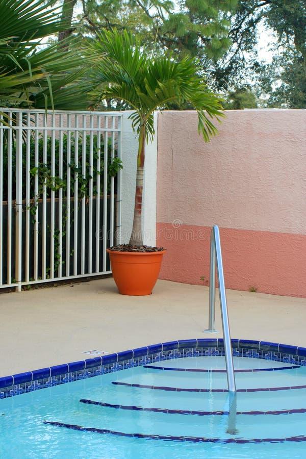 Het dek van de pool stock fotografie