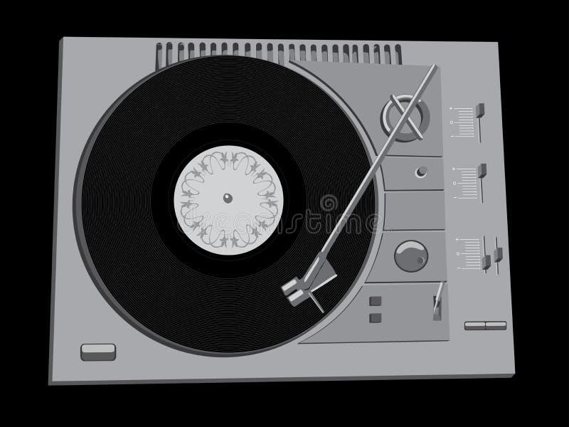 Het dek van DJ vector illustratie