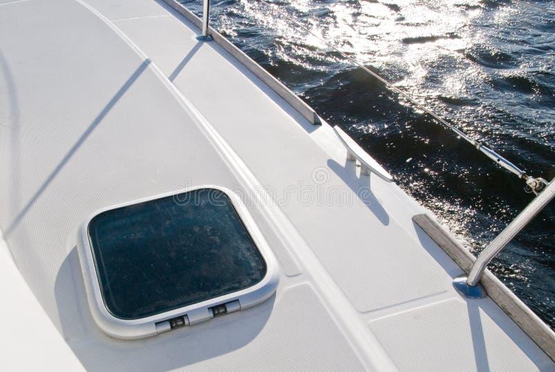 Het dek van het jacht stock foto