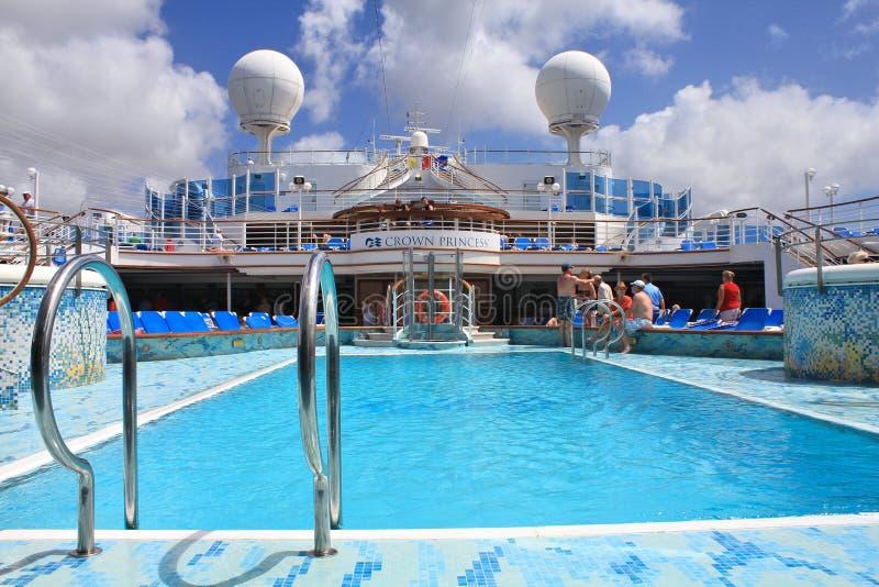 Het dek van het kroonprinsesschip royalty-vrije stock foto