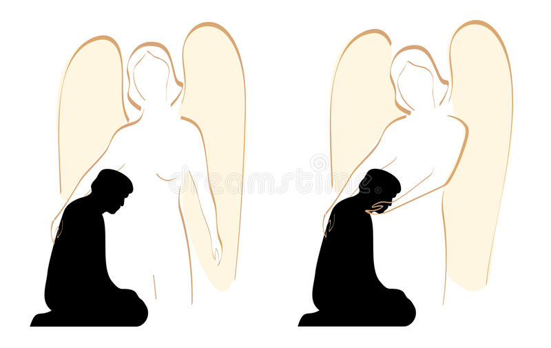 Het Dekbed van de engel stock illustratie