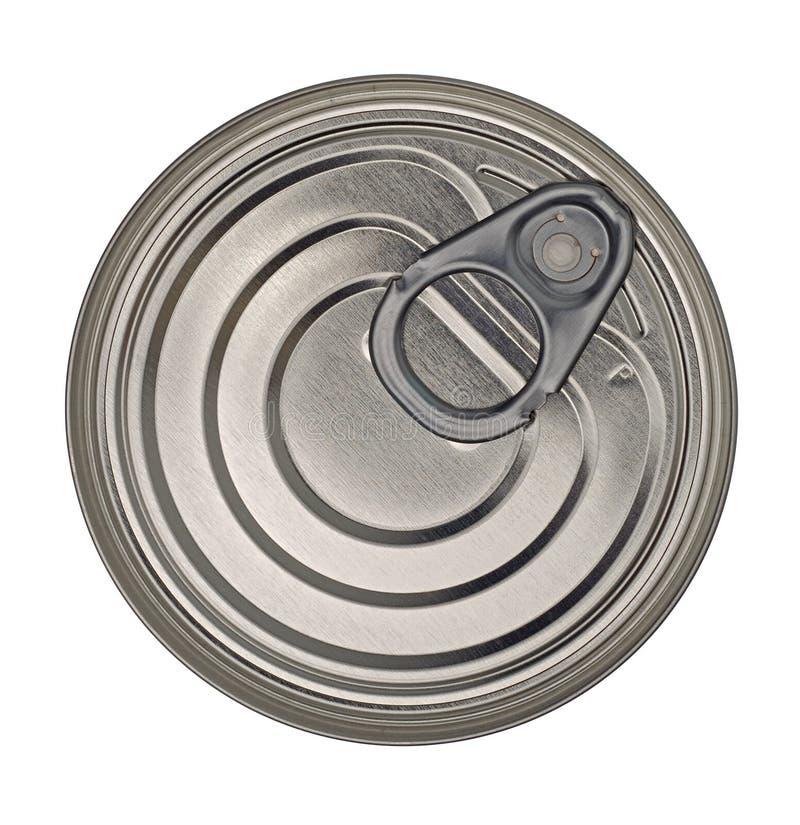 Het Deksel van het Blik van het Tin van het voedsel stock foto's