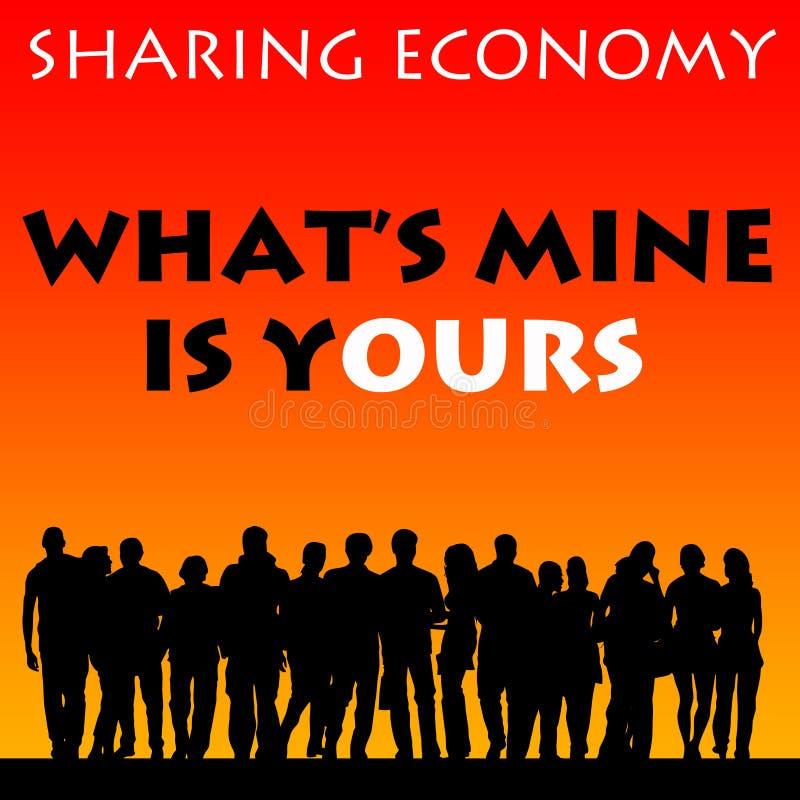 Het delen van Economie vector illustratie