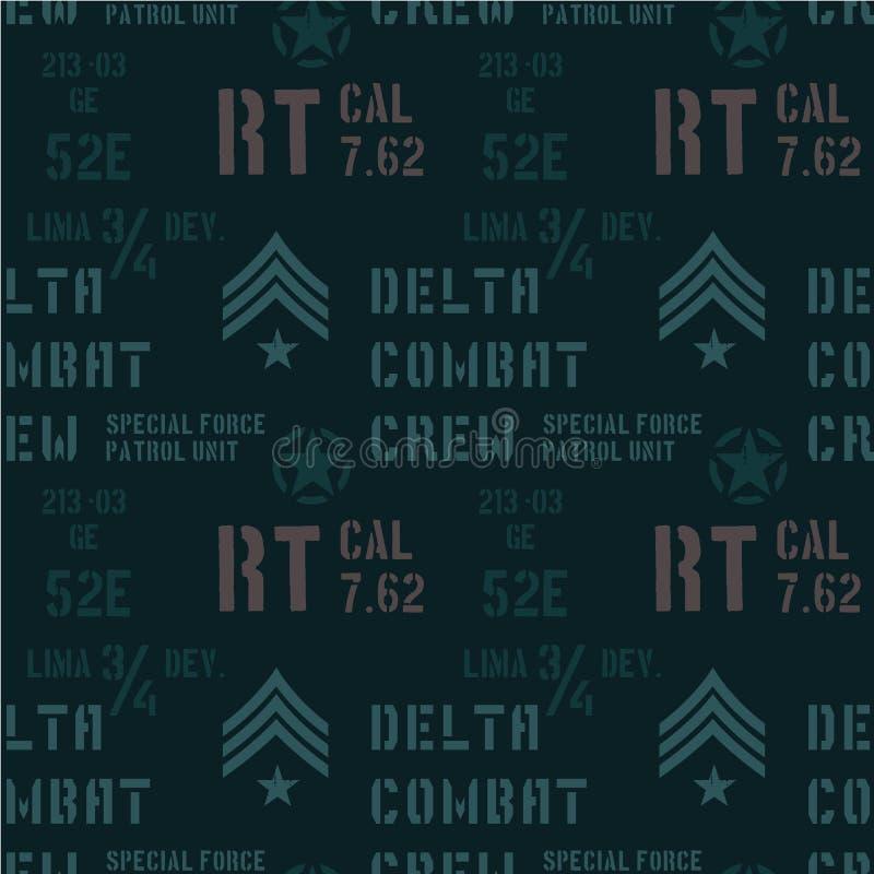 Het delta militaire patroon van de gevechtsbemanning stock illustratie