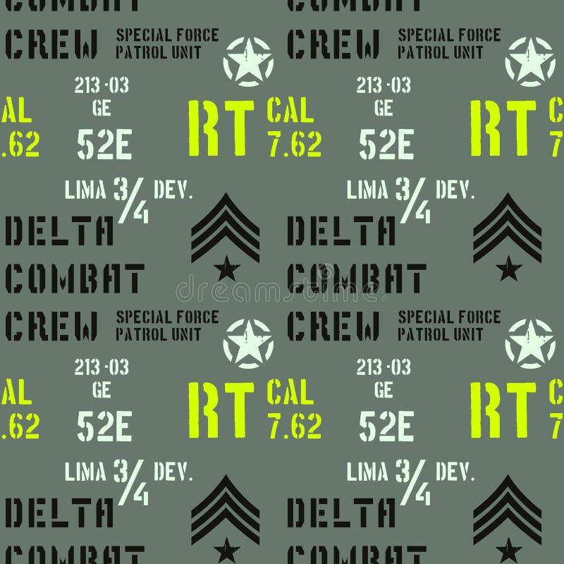 Het delta militaire patroon van de gevechtsbemanning vector illustratie
