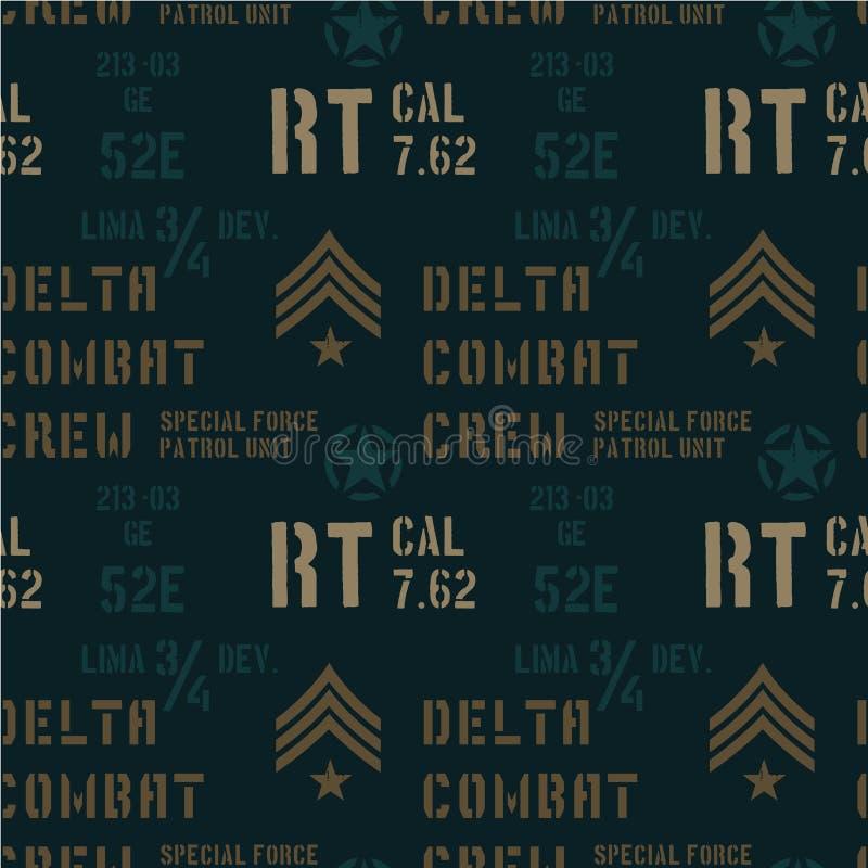 Het delta militaire patroon van de gevechtsbemanning royalty-vrije illustratie