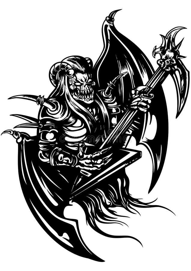 Het demon van de metaalmuziek vector illustratie