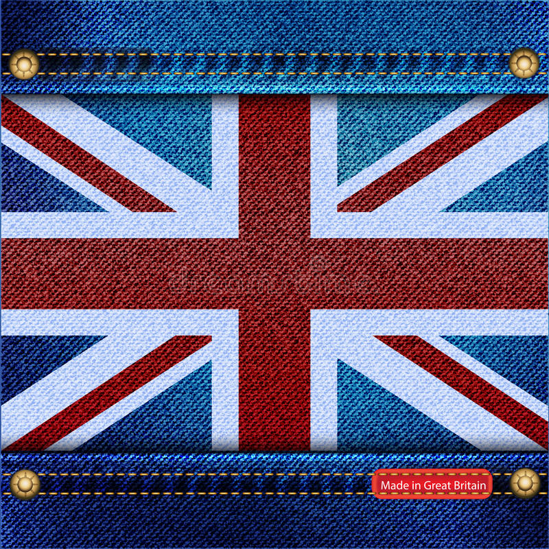 Het denim van Union Jack stock illustratie