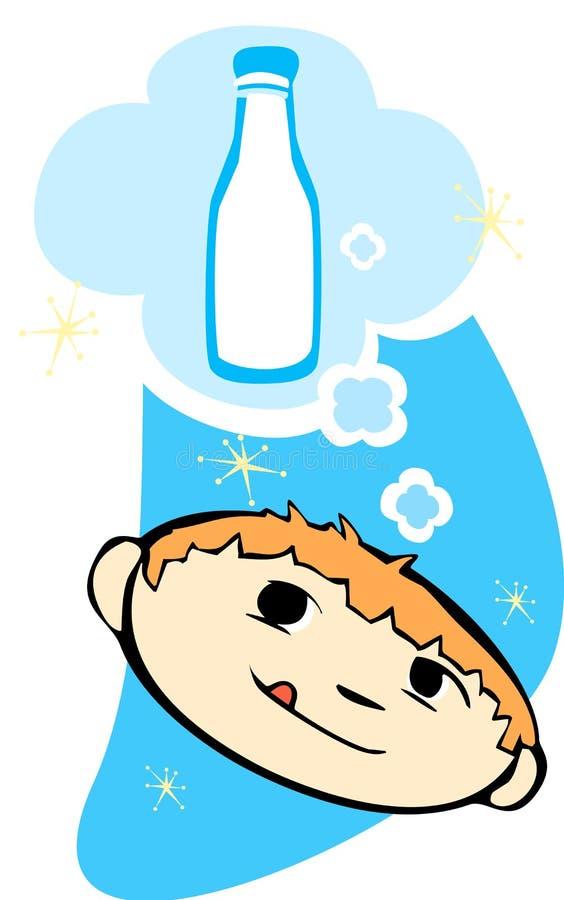 Download Het denken aan Melk vector illustratie. Illustratie bestaande uit sterren - 10778786