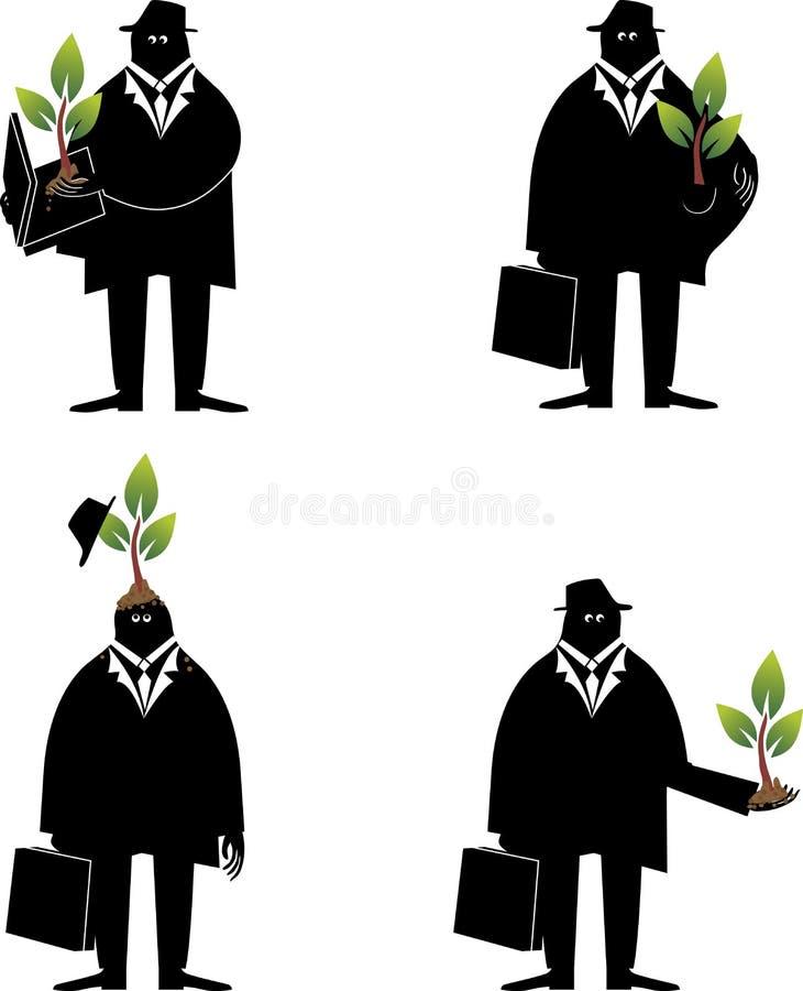 Het denken over ecologie vector illustratie