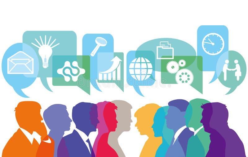 Het denken over mededeling stock illustratie