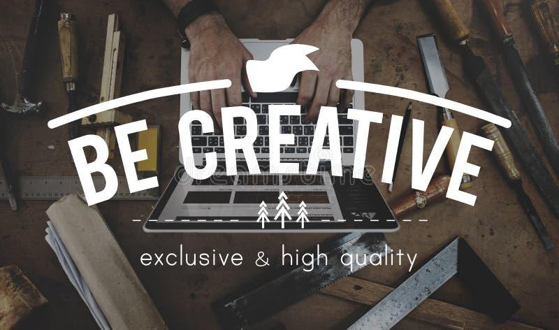 Het Denken van creativiteitimanigation het Concept van de Inspiratiestijl stock foto's