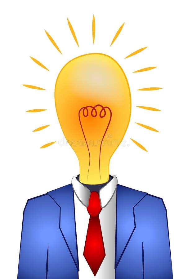 Het Denken van de Mens van Lightbulb Ideeën 2 royalty-vrije illustratie