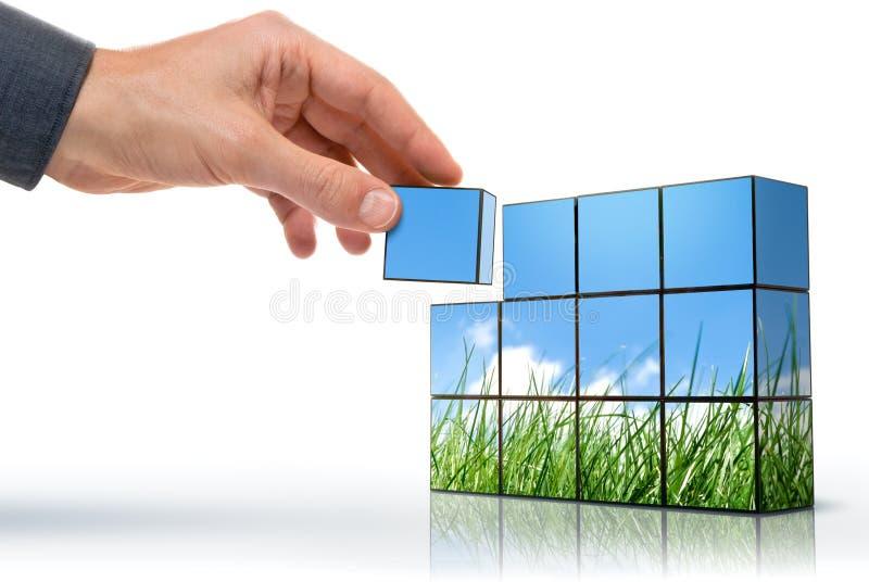 Het denken van Eco stock afbeeldingen