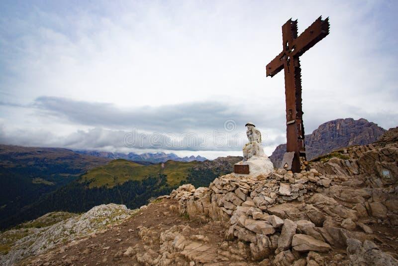 Het denkende standbeeld van Christus stock foto