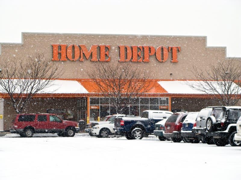 Het Depot van het huis stock foto's
