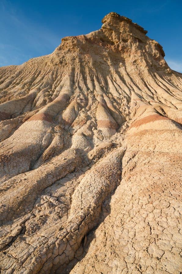Het desertic landschap van Bardenasreales in Navarra, Spanje royalty-vrije stock foto