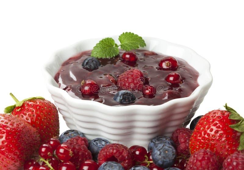 Het Dessert van Bessen royalty-vrije stock afbeelding