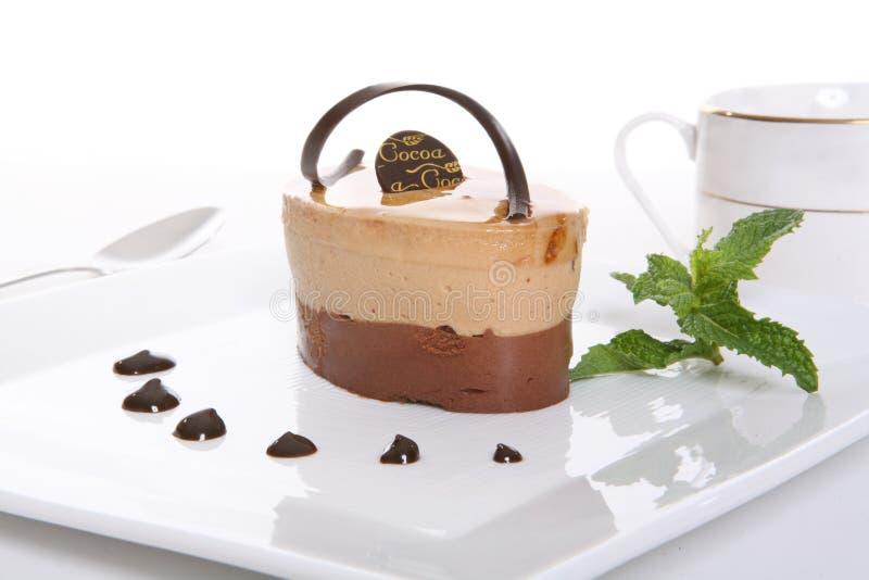 Het Dessert van de Cake van de chocolade royalty-vrije stock fotografie