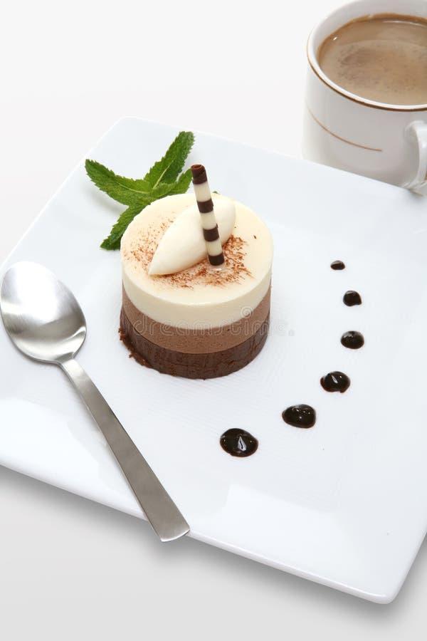 Het Dessert van de Cake van Mocha royalty-vrije stock fotografie