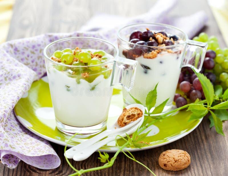 Het dessert van de druif royalty-vrije stock fotografie
