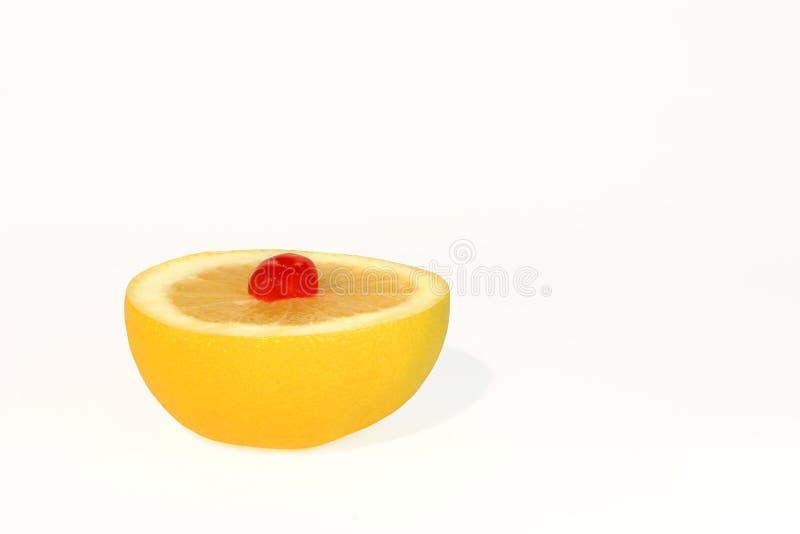 Het Dessert van de grapefruit en van de Kers stock fotografie