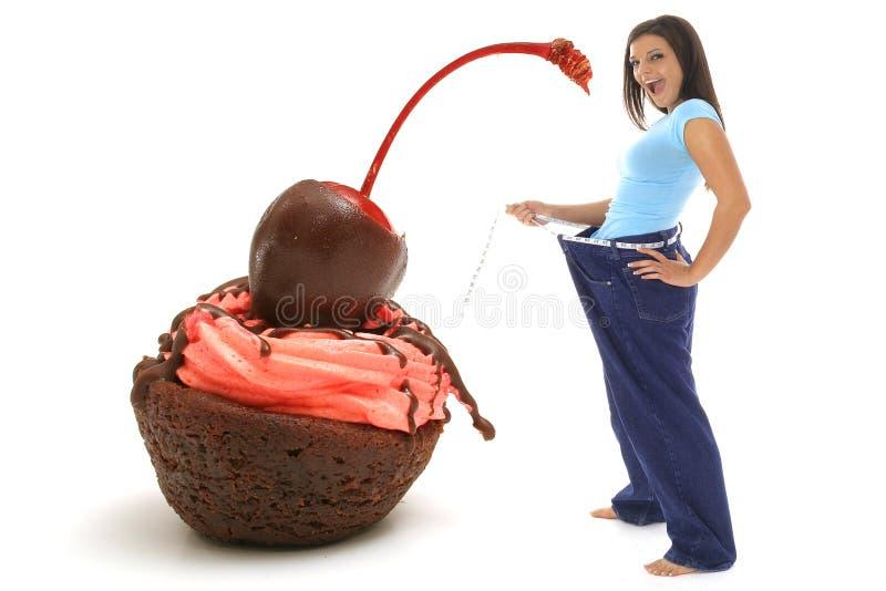 Het dessert van het dieet stock foto