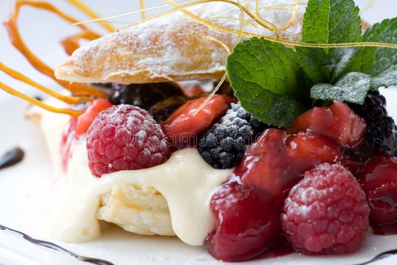 Het dessert van het gebakje stock foto