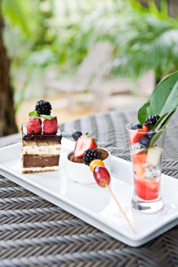 Het dessert van het huwelijk stock afbeelding