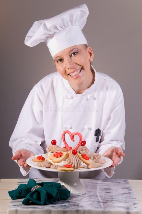 Het Dessert van het Koekje van de valentijnskaart stock afbeeldingen