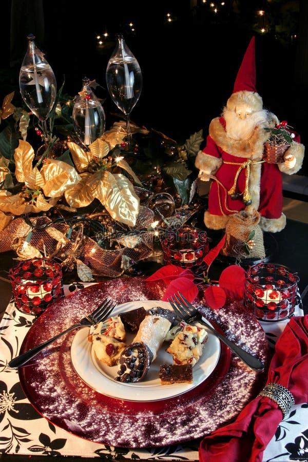 Het Dessert van Kerstmis stock foto's
