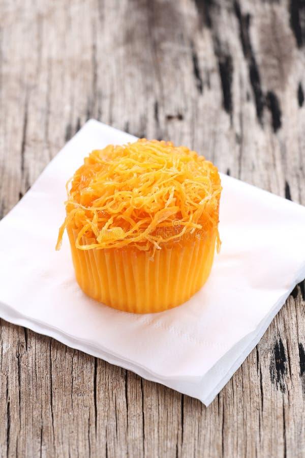 Het dessert van Thailand cupcakes op Witboek royalty-vrije stock afbeeldingen