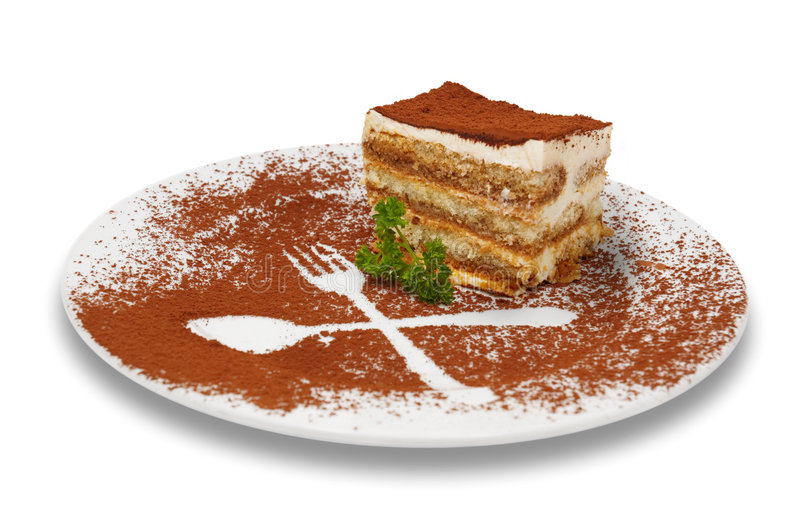 Het dessert van Tiramisu