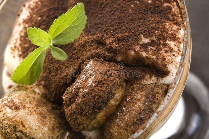 Het Dessert van Tiramisu royalty-vrije stock afbeelding