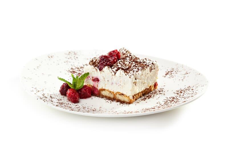 Het dessert van Tiramisu royalty-vrije stock foto
