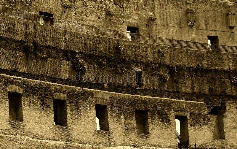 Het detail van Colosseum stock foto's
